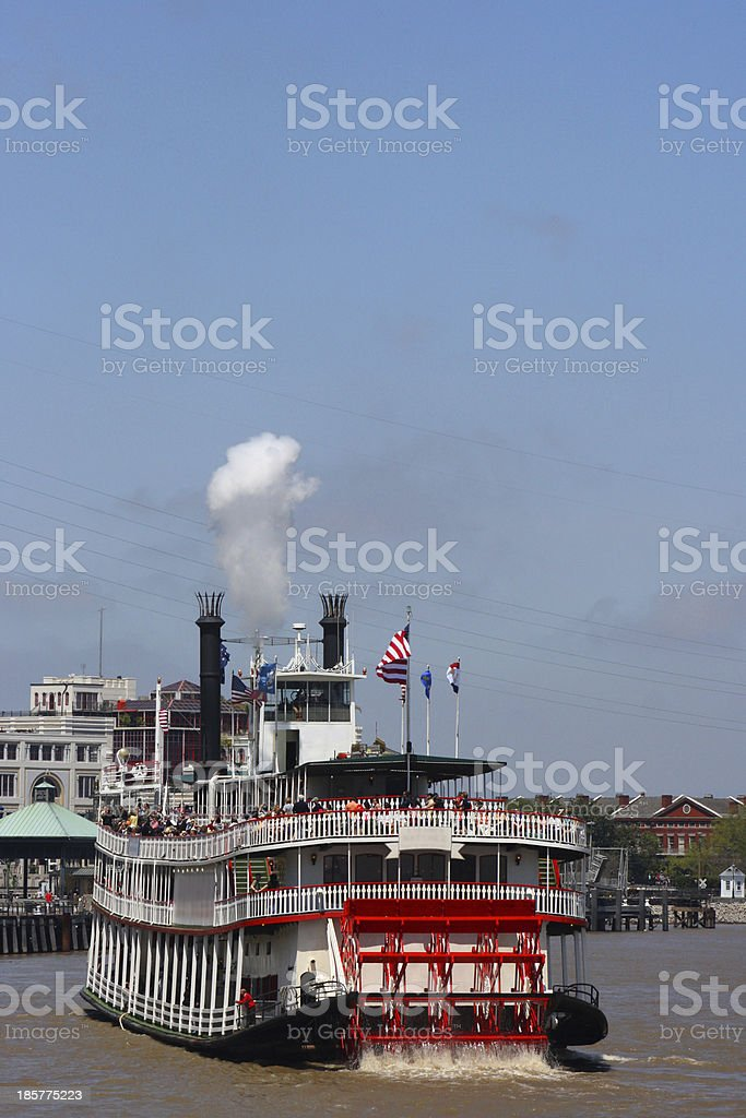 Riverboat on the Mississippi stock photo