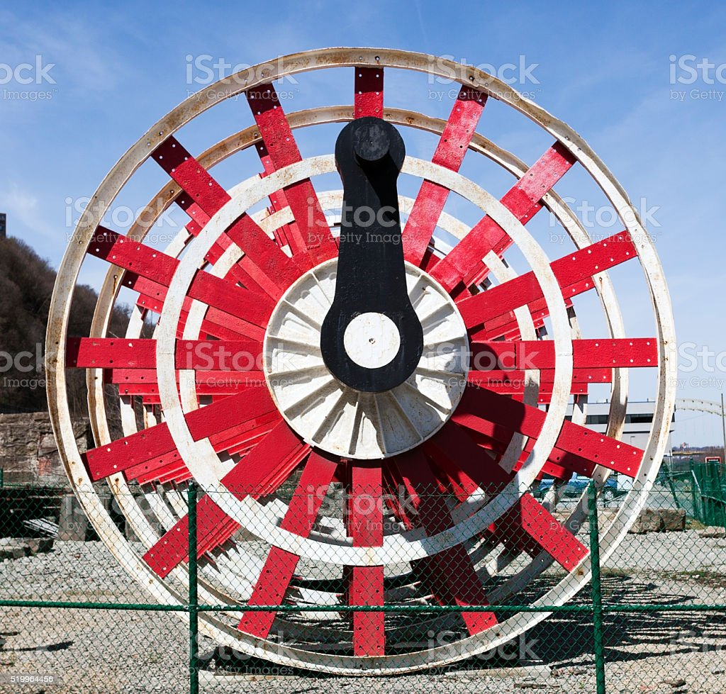 Riverboat Paddle Wheel stock photo
