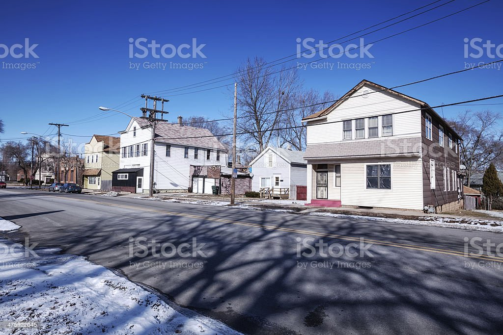 Riverdale in winter, Chicago stock photo