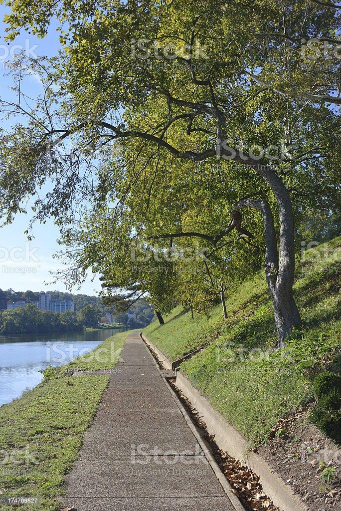 Riverfront in Charleston stock photo