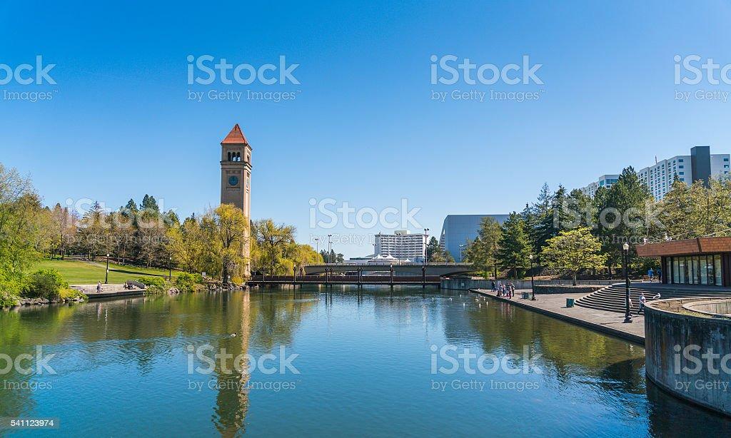 Riverfront Park ,Spokane,Washington,usa. stock photo