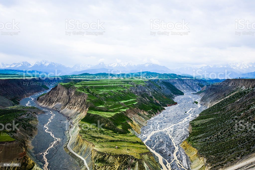 Rivers in  Deep Valley stock photo
