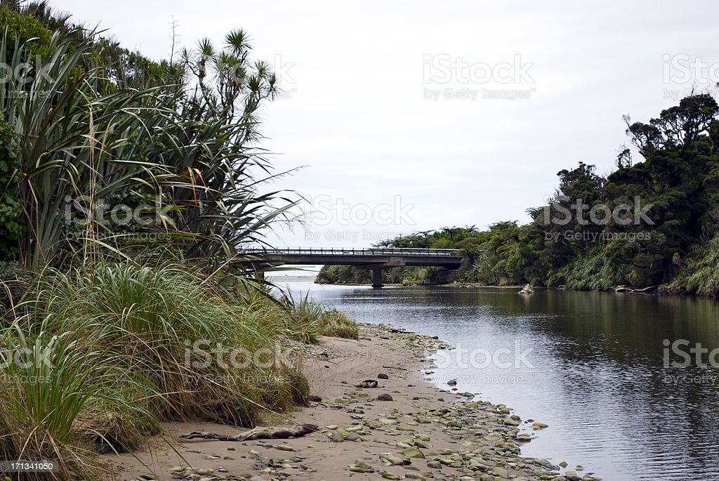 Riverscape in the Paparoa National Park, New Zealand's West Coast stock photo