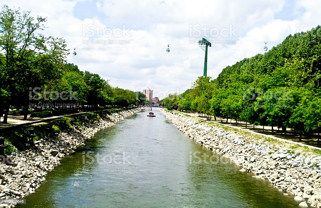 Riverside and the trees by the side of the river royalty-free stock photo