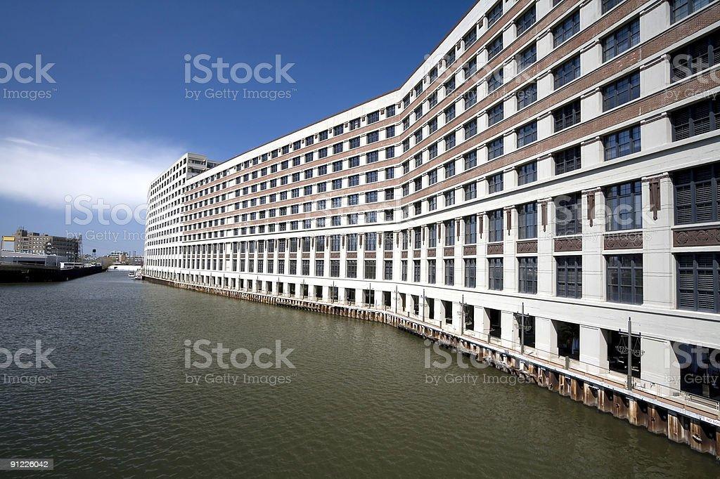 Riverside Apartments, Chicago stock photo