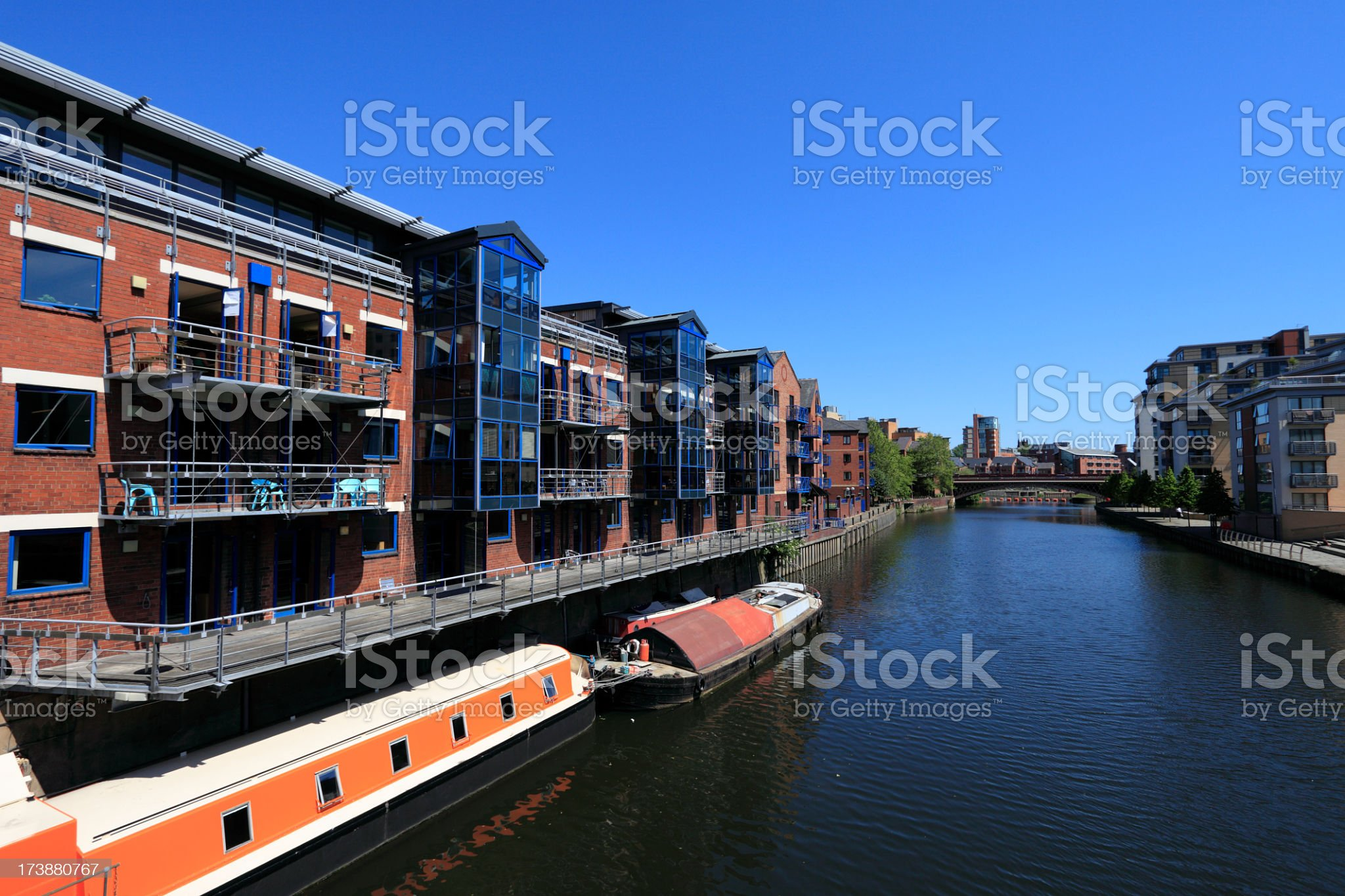 Riverside apartments royalty-free stock photo
