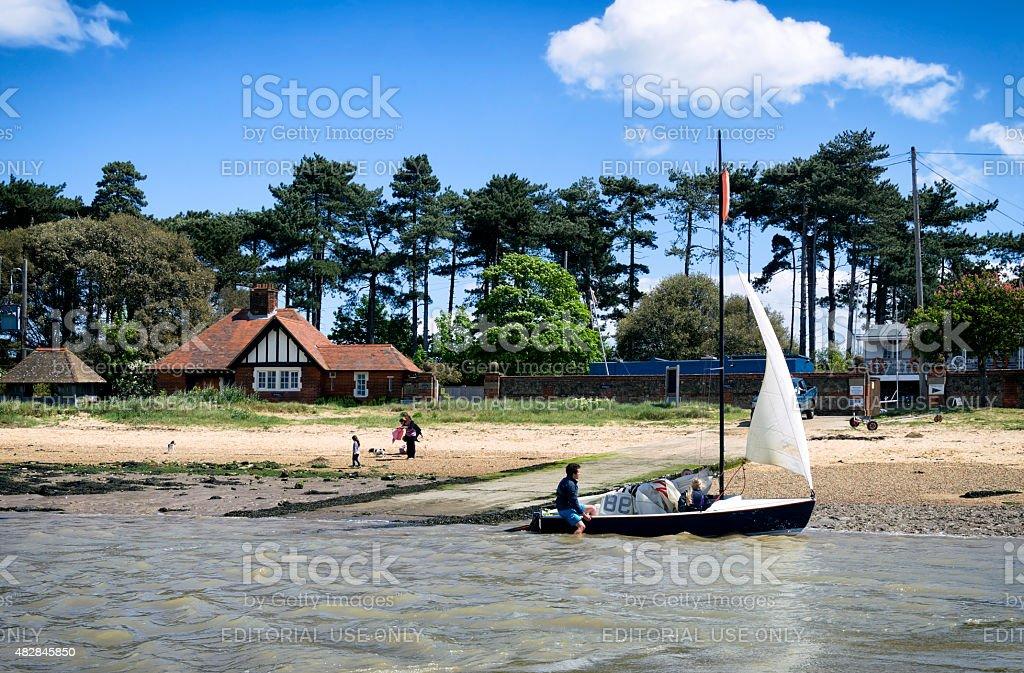 Riverside at Bawdsey, Suffolk stock photo