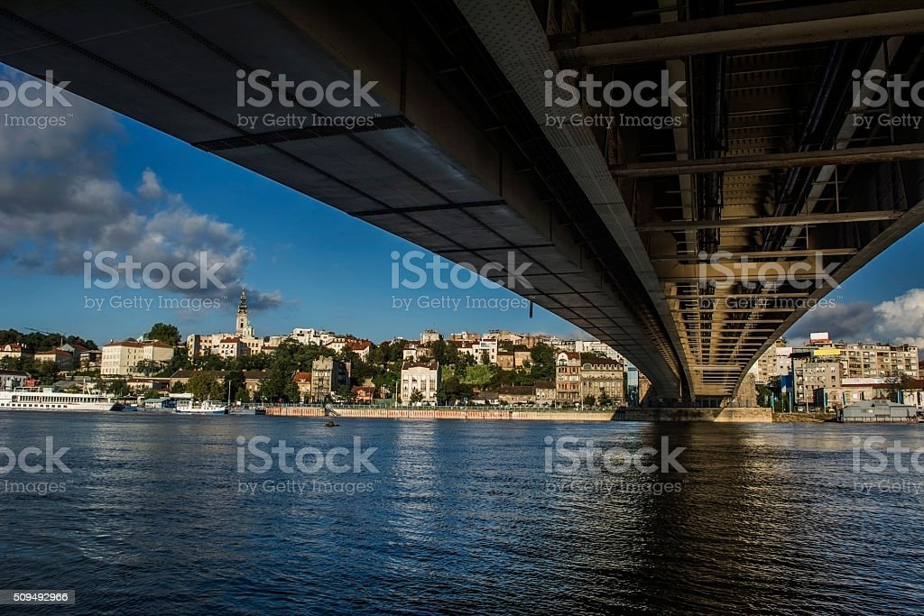 Riverside Belgrade stock photo