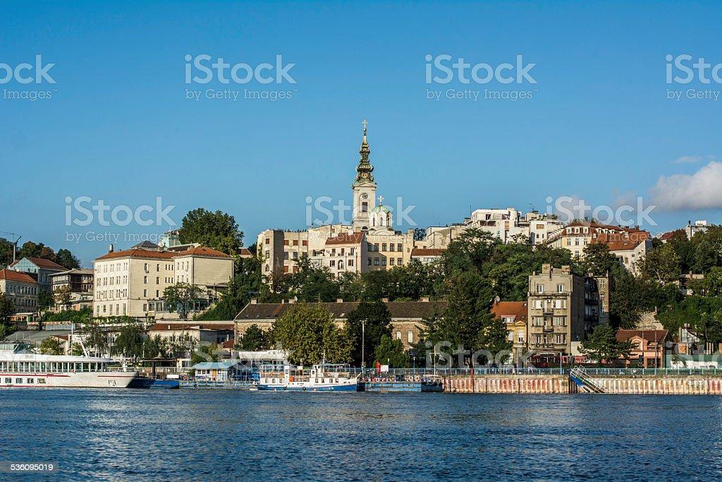 Riverside Belgrade, Serbia stock photo