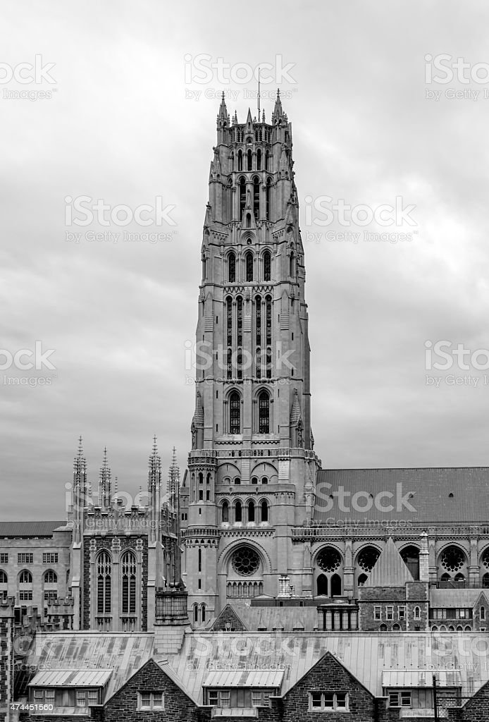 Riverside Church - Black & White stock photo