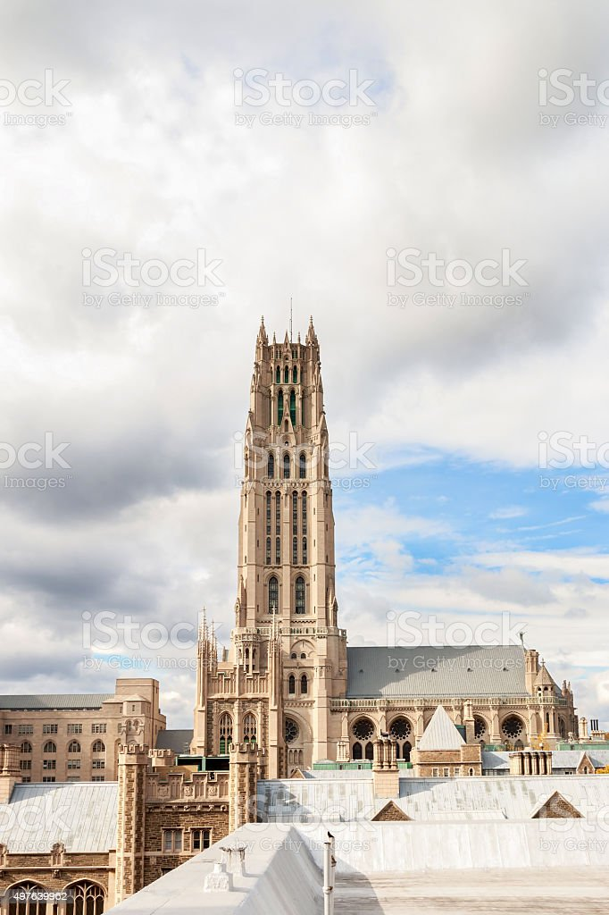 Riverside Church in Morningside Heights, NYC stock photo