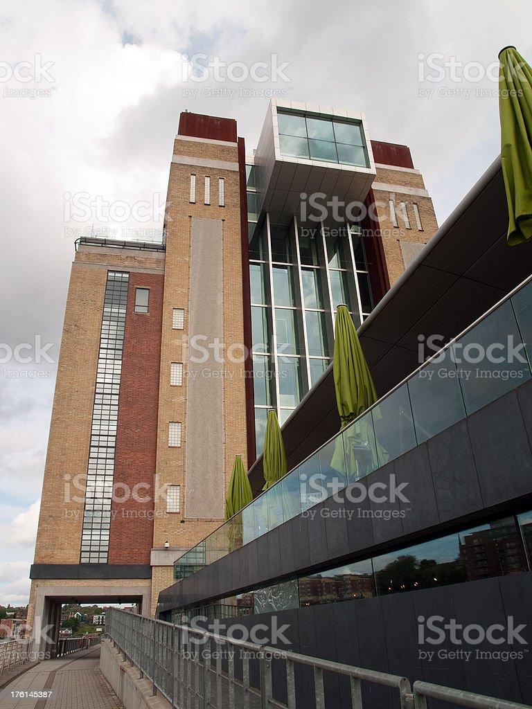 Riverside development in Gatehead stock photo