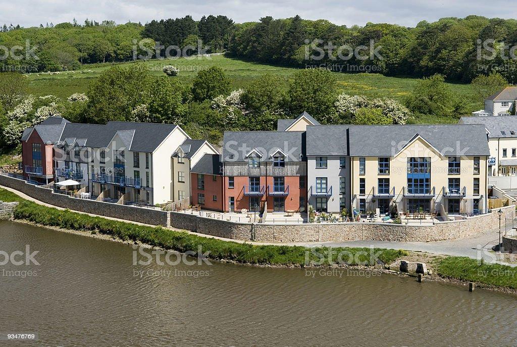 Riverside development royalty-free stock photo