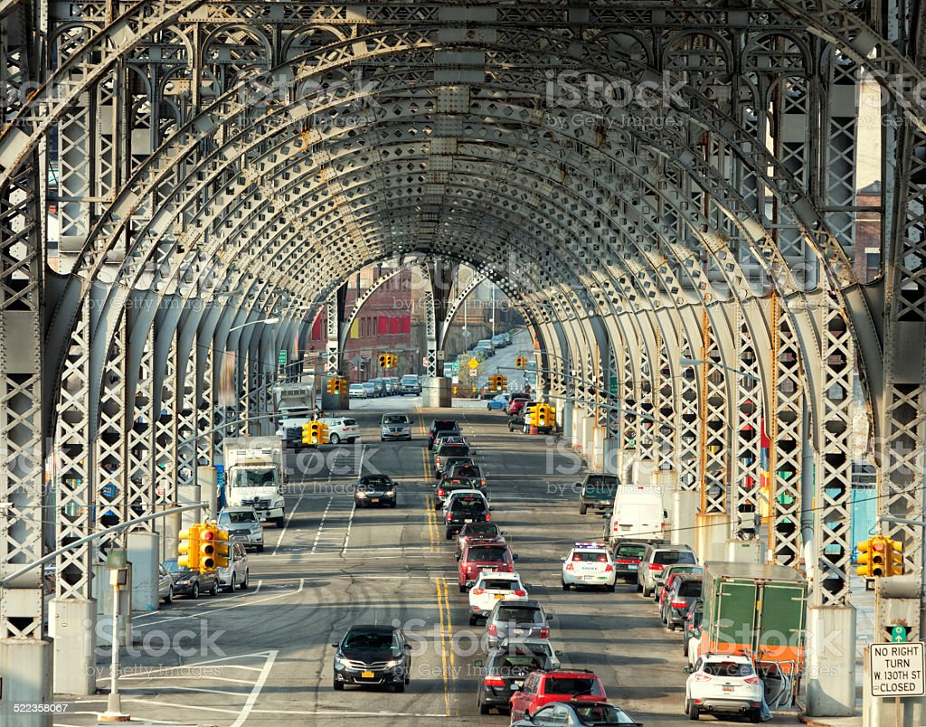 Riverside Drive Viaduct, Harlem, Upper Manhattan, New York City stock photo