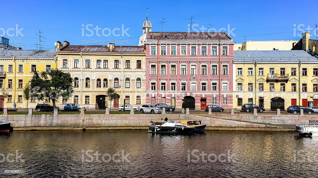 Riverside Fontanka em São Petersburgo foto de stock royalty-free