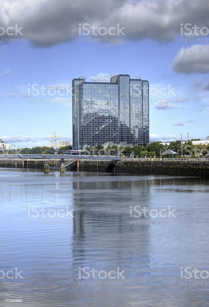 River-side Hotel royalty-free stock photo