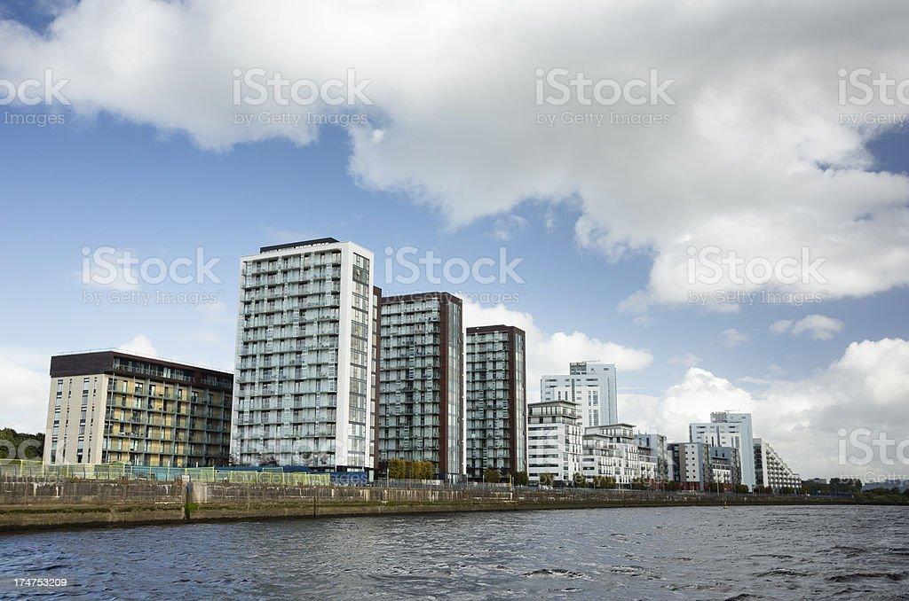 Riverside Housing royalty-free stock photo