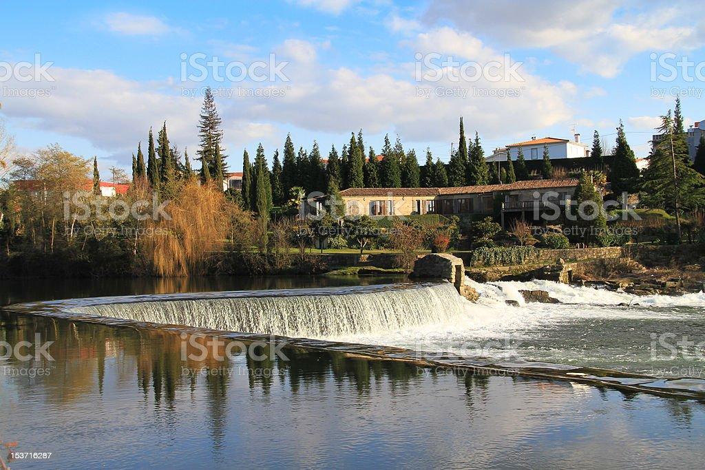 Riverside landscape stock photo