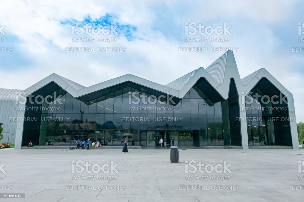 Riverside Museum of Transport in Glasgow, United Kingdom stock photo