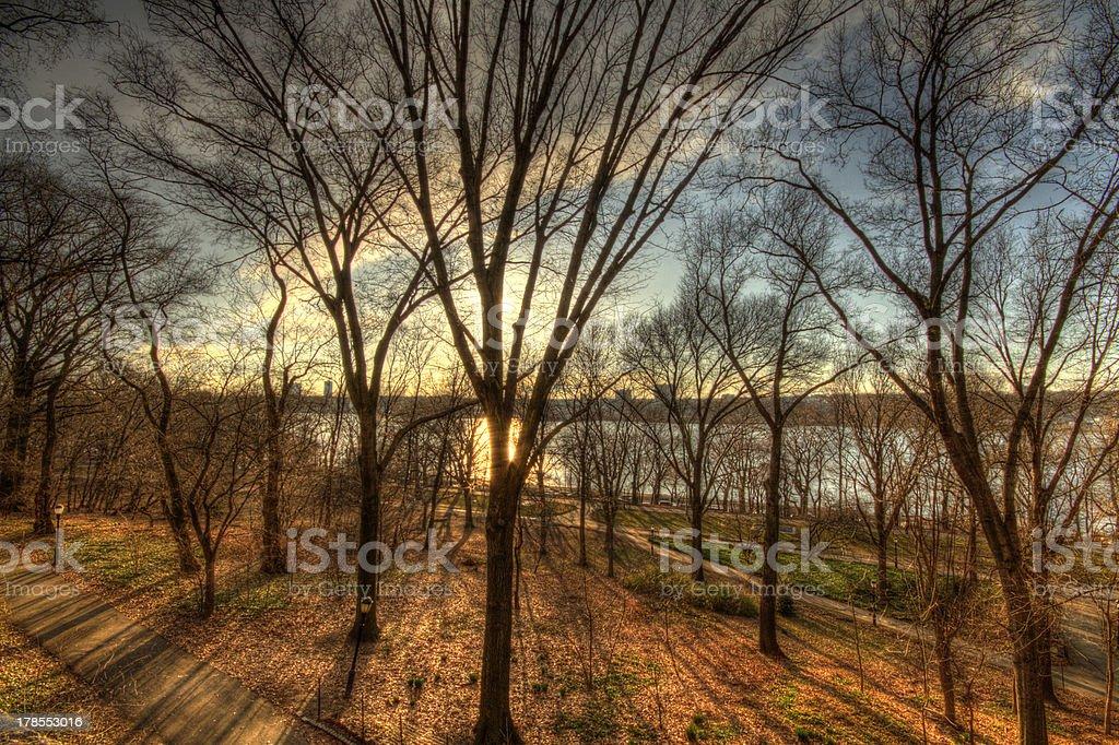 Riverside Park, NY stock photo