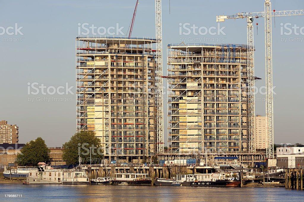 Riverside residential royalty-free stock photo