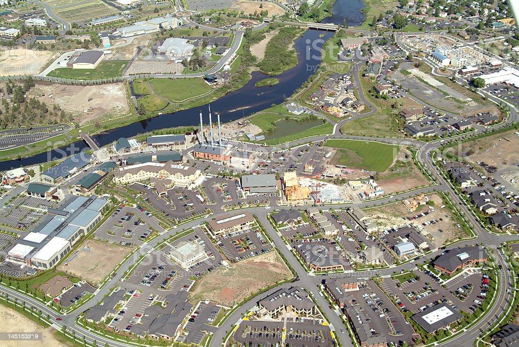 Riverside Retail development royalty-free stock photo