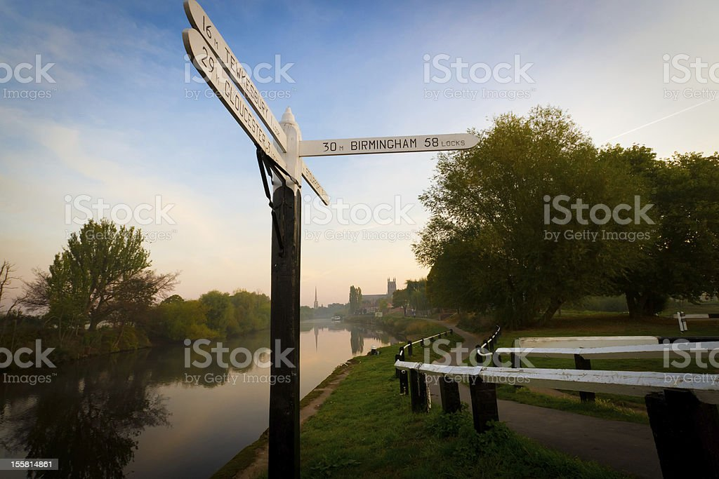 Riverside sign at Diglis, Worcester royalty-free stock photo