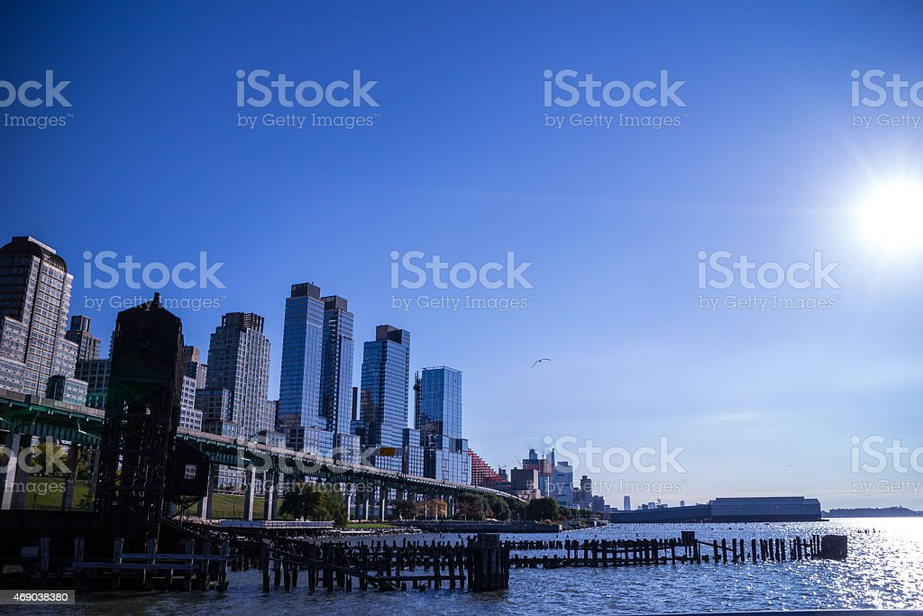 Riverside Sky stock photo