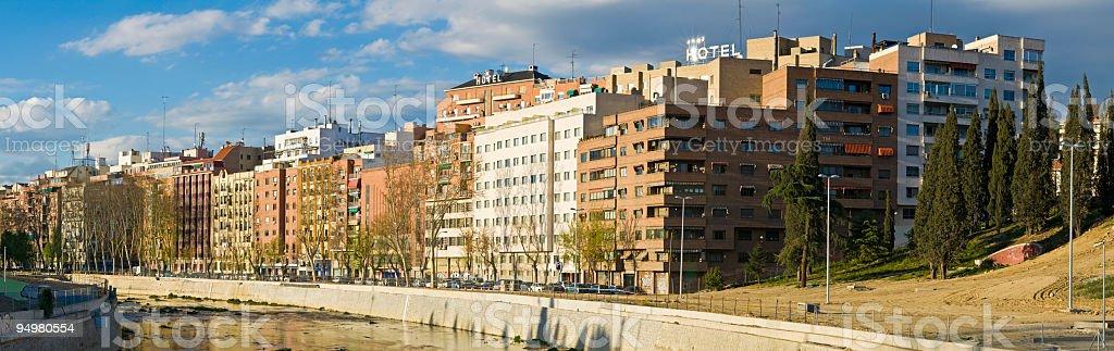 Riverside suburbs apartments royalty-free stock photo