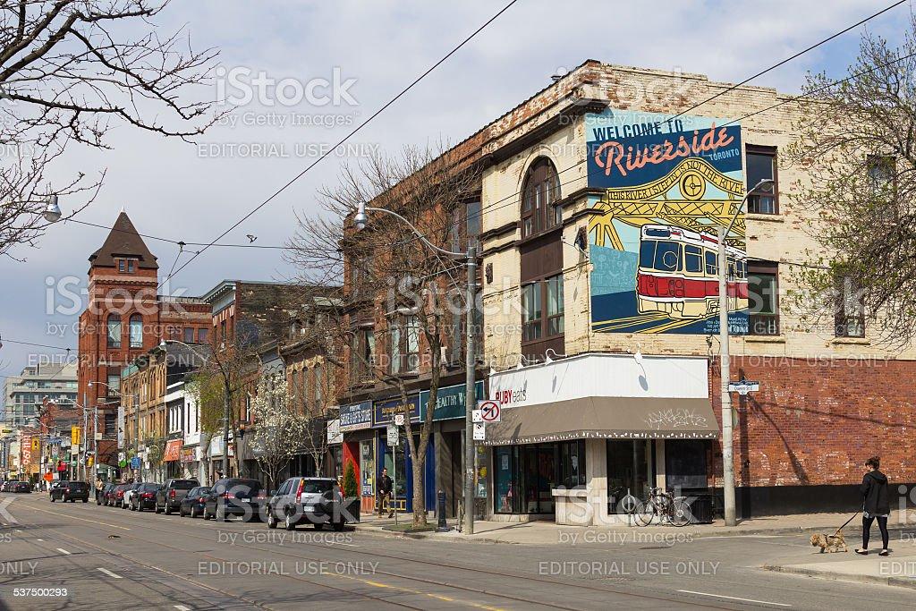 Riverside Toronto stock photo
