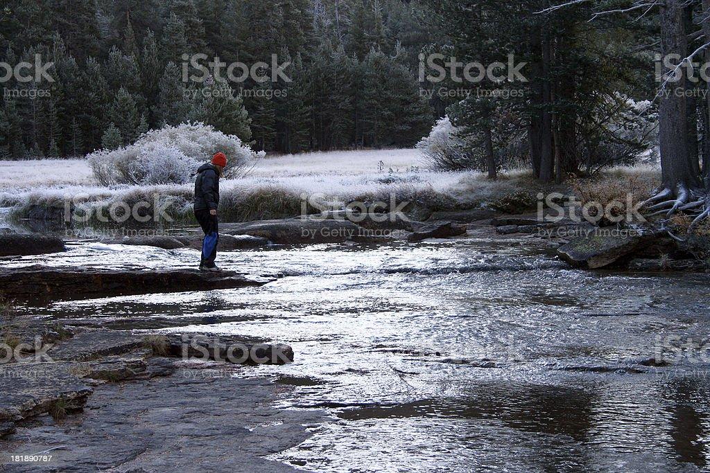 Riverside, Tuolumne River stock photo