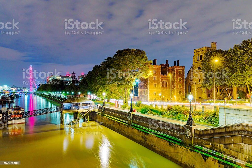 Riverside view of London stock photo