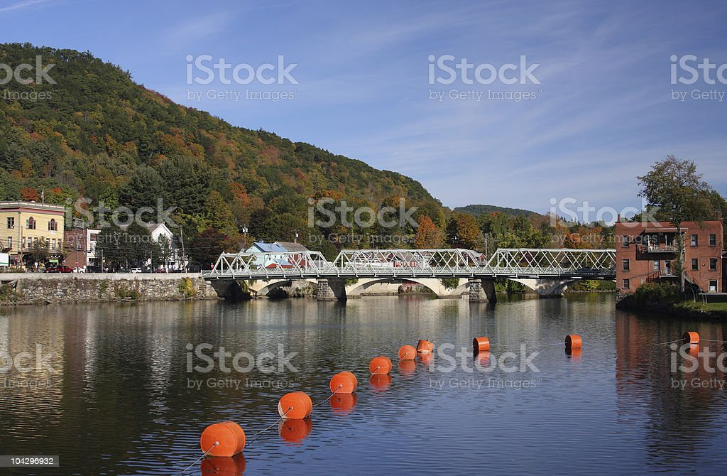 Riverside Village stock photo
