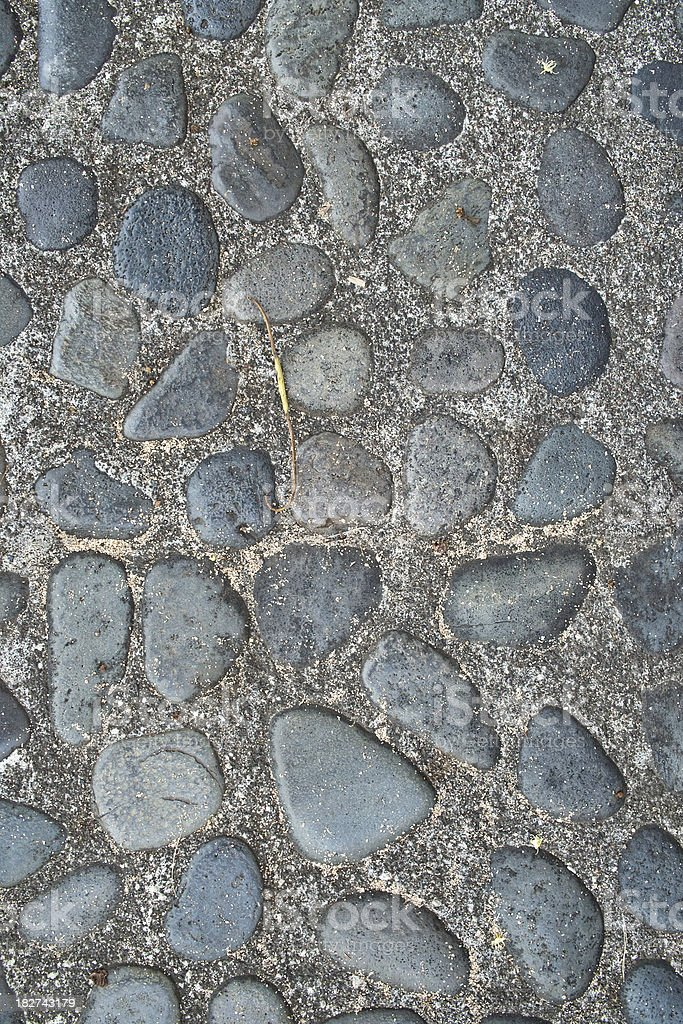 Riverstone Wall royalty-free stock photo