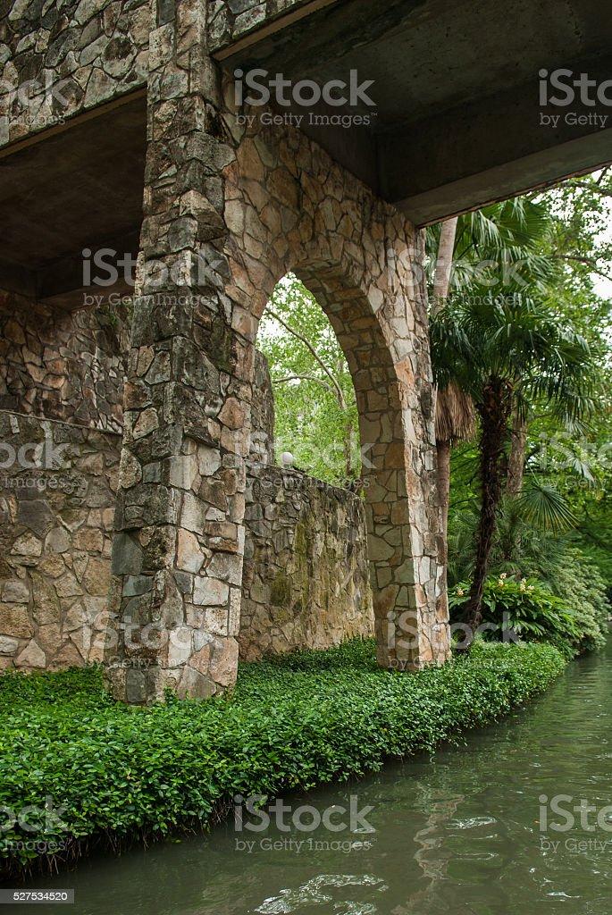 Riverwalk Bridge stock photo