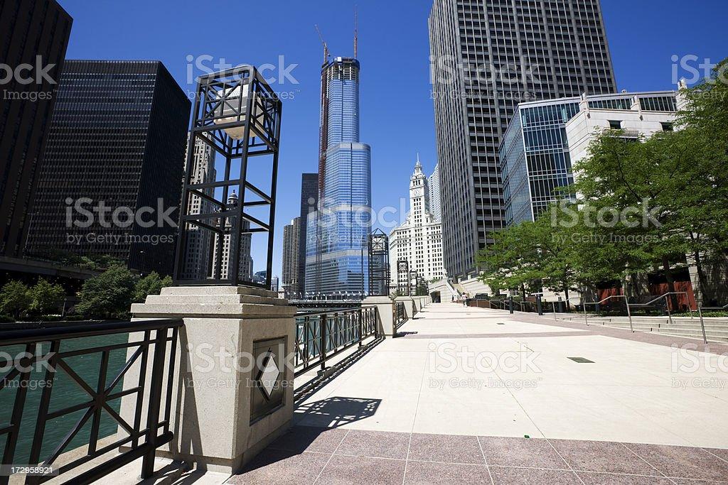 Riverwalk Chicago stock photo