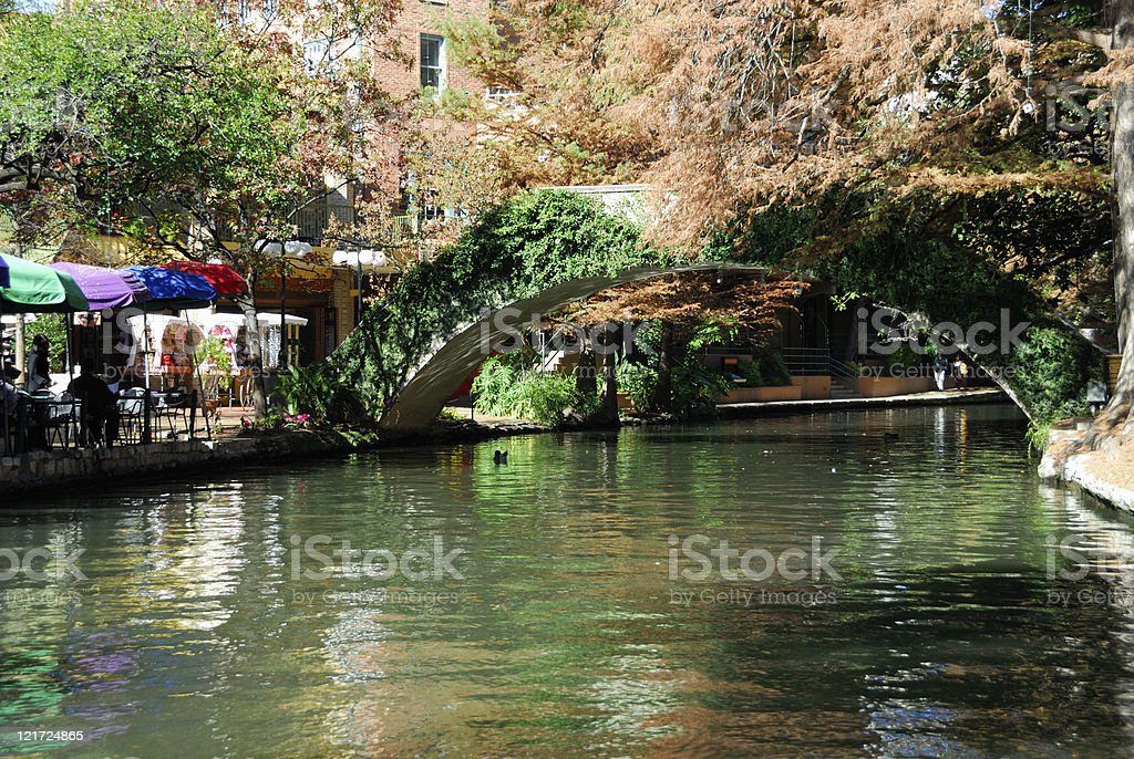Riverwalk in the Winter stock photo