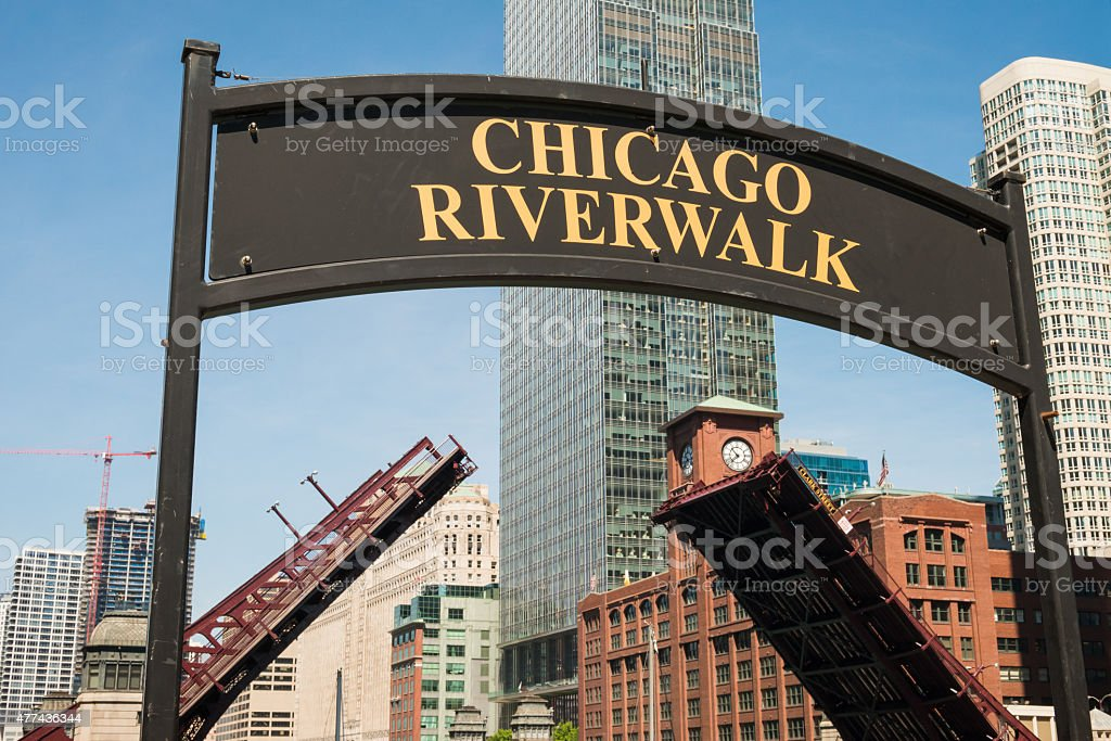 Riverwalk stock photo