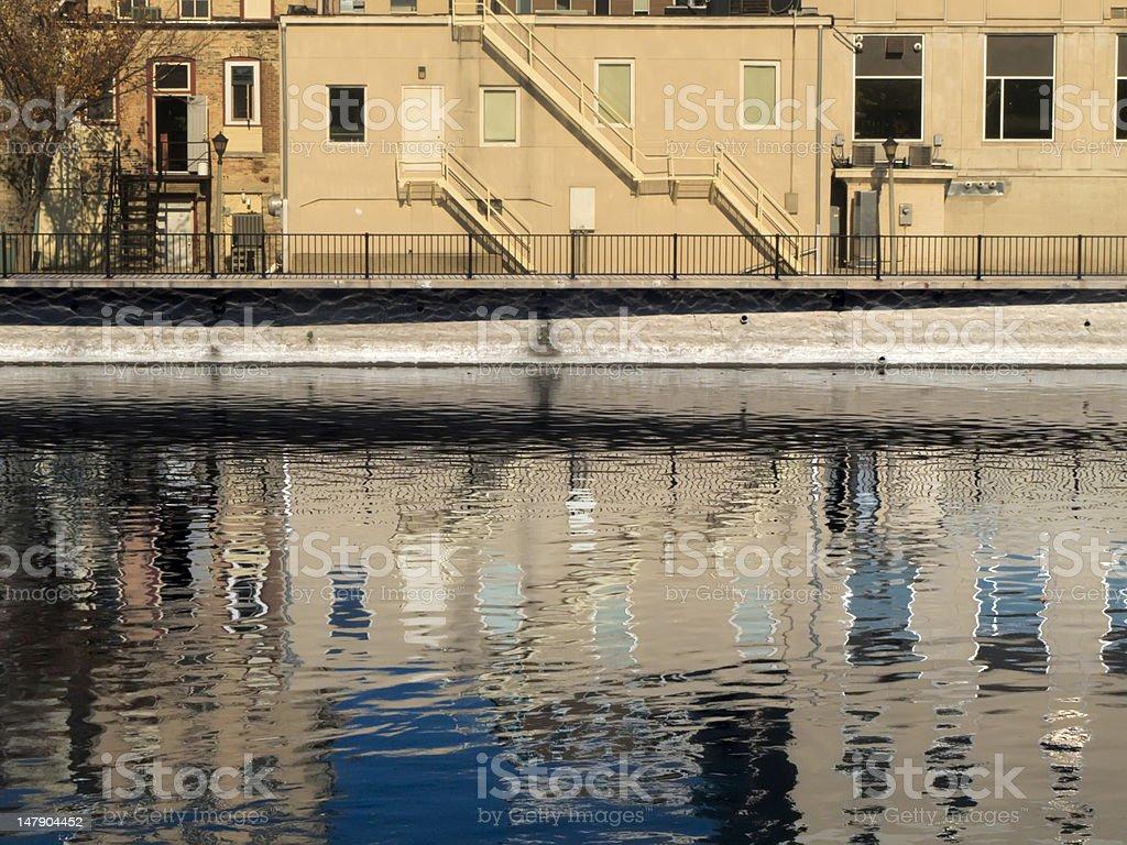 Riverwalk reflections stock photo