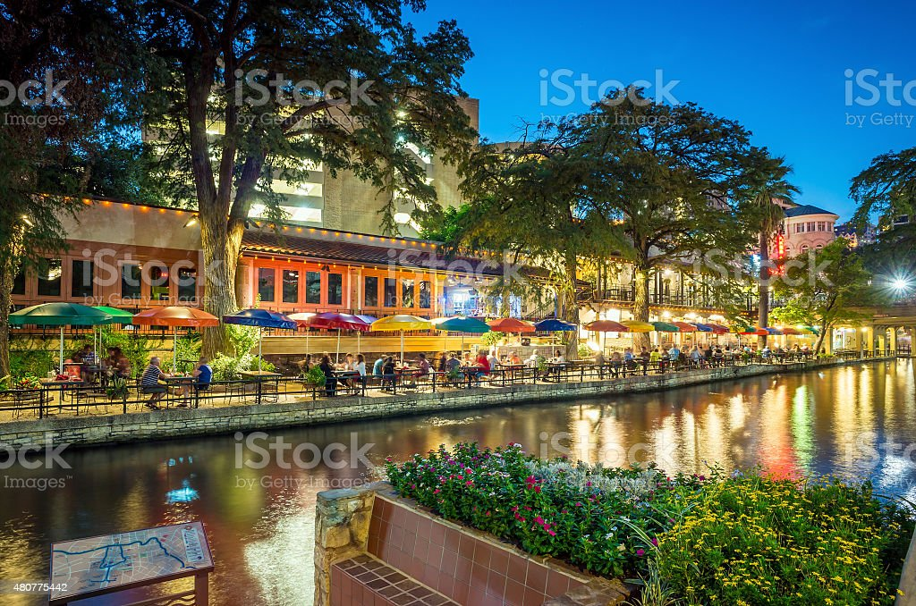 Riverwalk San Antonio stock photo
