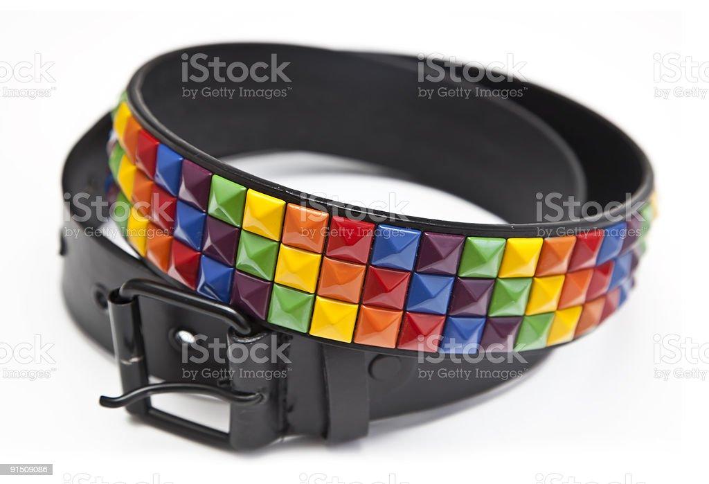 Rivet Belt royalty-free stock photo
