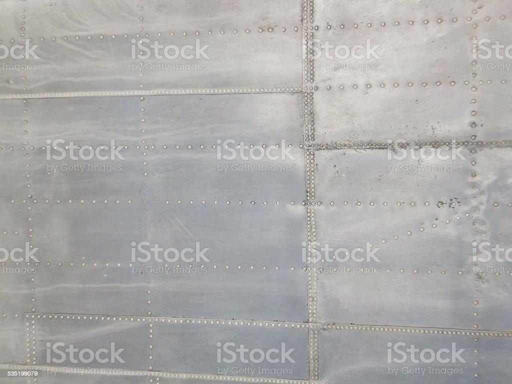 Riveted aluminum stock photo
