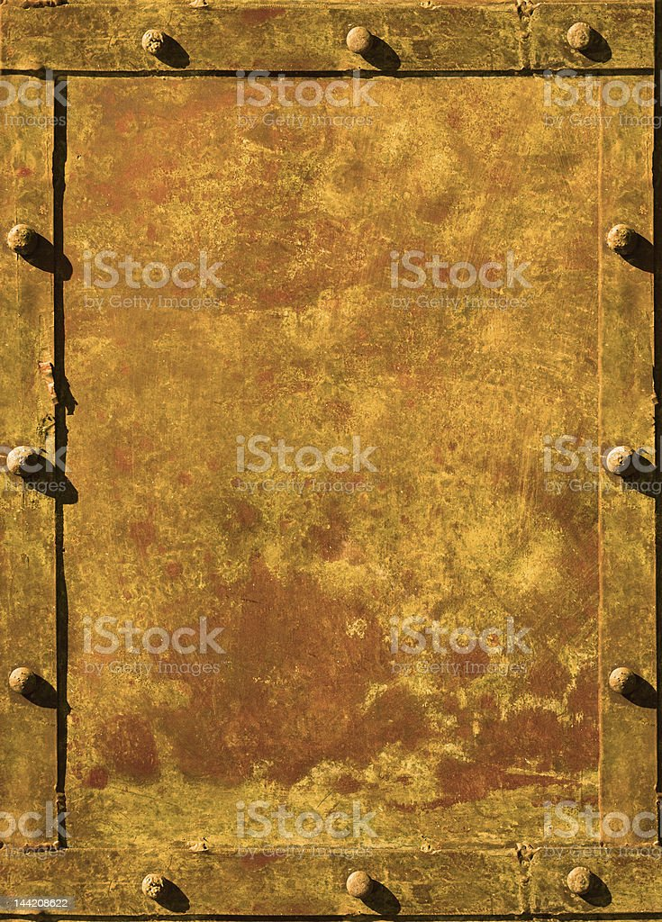 riveted grunge background with space for text royalty-free stock photo