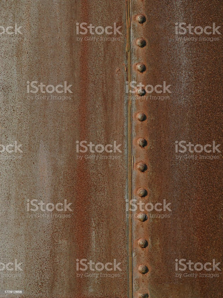 Riveted steel background. stock photo