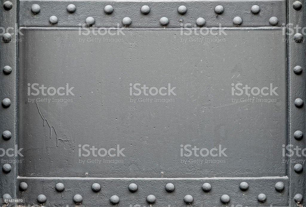 riveted steel background stock photo