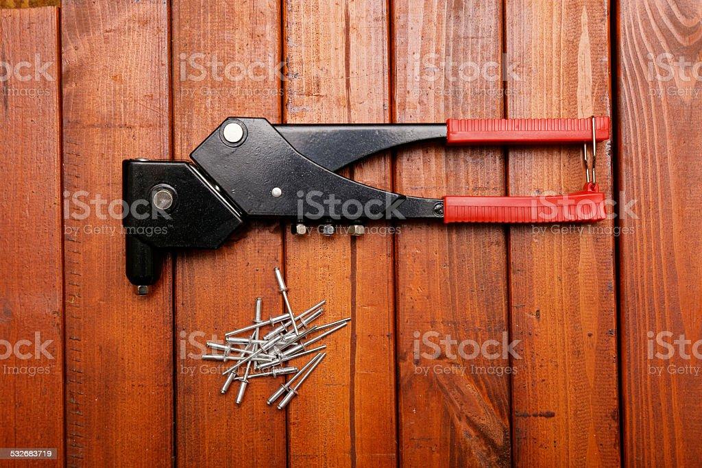 Riveting tool stock photo