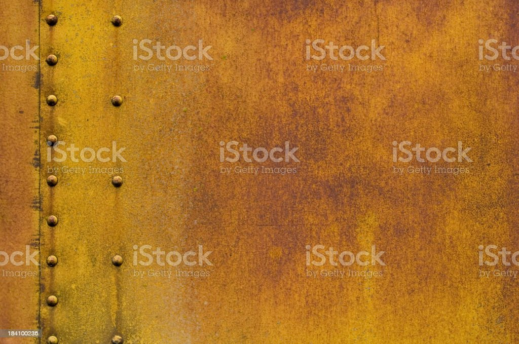 Rivets and Rust Texture royalty-free stock photo