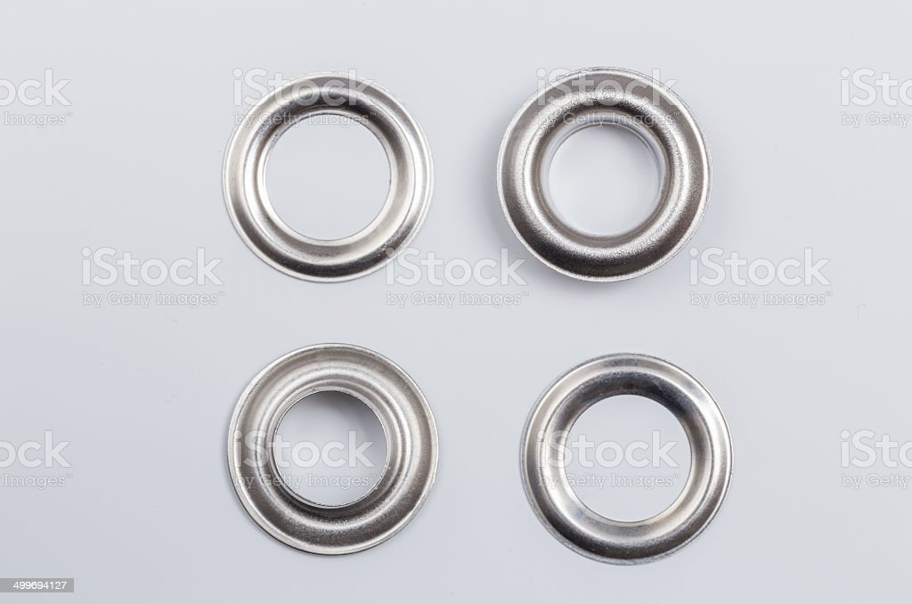 Rivets isolated on a light background as Cut stock photo