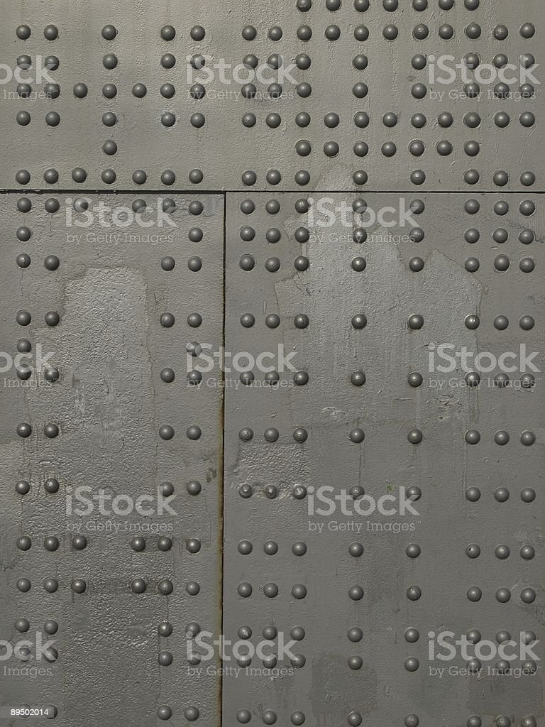 Rivets on metal royalty-free stock photo