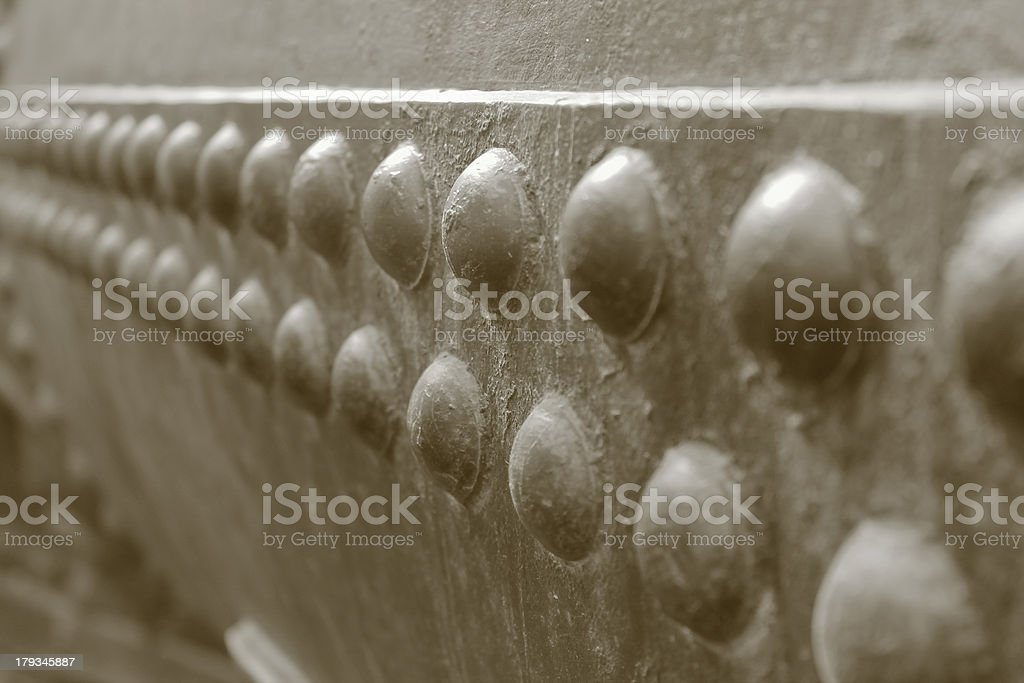 Rivets royalty-free stock photo